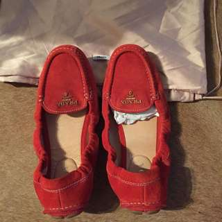 STUNNING SUEDE PRADA LOAFERS FOR SALE