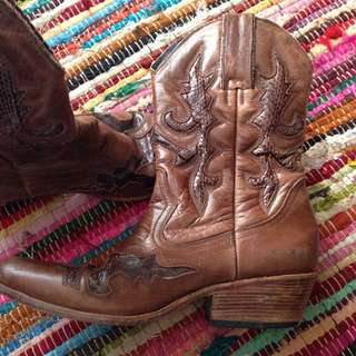 Western Snake Skin Festival Boho Boots