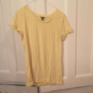 Ann Taylor Yellow T Shirt