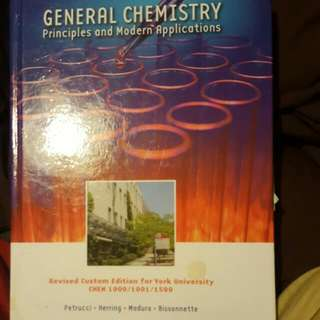 General Chemistry Principles And Modern Applications Custom Edition For York University CHEM 1000 And 1001
