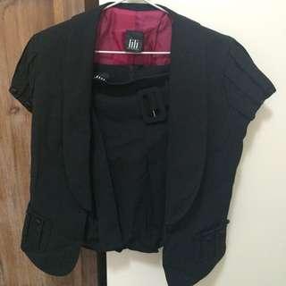 Lilli Black Skirt & Jacket Suit