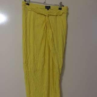 Bardot Yellow Skirt