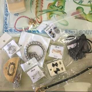 Accessories, Necklace, Bracelet, Earrings