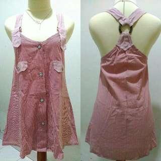 Stripe Overall Dress