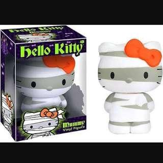 2 X Hello Kitty Vinyl Figures - Mummy & Frankenstein