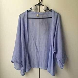 Light Blue Flowy Cardigan - Perfect for summer!