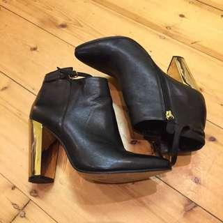 Windsor Smith Gold Heel Boots 10
