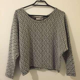 RS Monochrome Crop Sweater