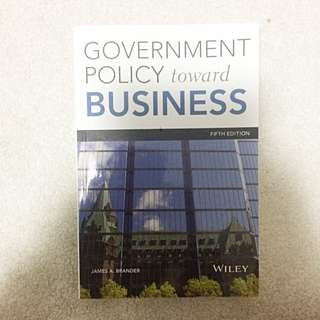 Government Policy Towards Business