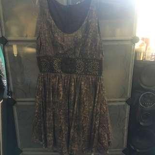 Snake Skin Print Dress