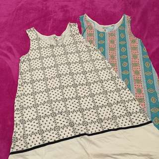 Uniqlo Cotton Sleeveless Dresses Set Of 2 (Size L)