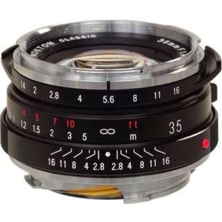 Voigtlander Nokton Classic 35mm f/1.4 Lens