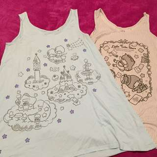 Uniqlo Cotton Sleeveless Dresses Set Of 2 - Little Twin Stars Ed (Size M)