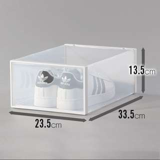Stackable Drop Front Shoe Box (INSTOCKS)