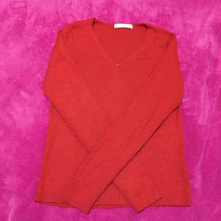Marks And Spencer Red Knit Jumper