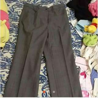 全新深灰色西裝褲9號