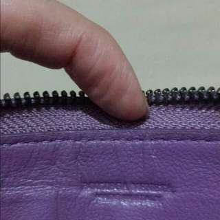 Purple Zip Around Long Wallet
