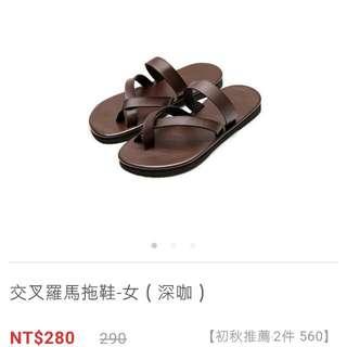 Lativ羅馬交叉鞋