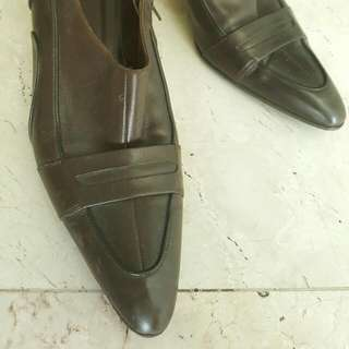 Hugo Boss Brown Leather Booties