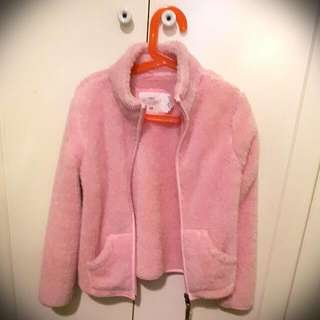 H&M Furry Jacket For GIRLS 6-8 Years Old