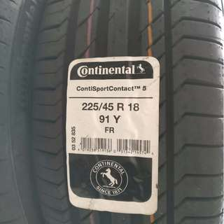 225/45 R18 Continental CSC5 Tyre
