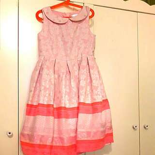 Pink Shiny Girls Dress 10-12 Years Old