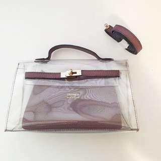 Hermes Inspired Transparent Bag