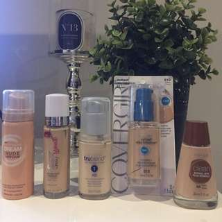 various Light Foundations- All Brand New! Never Used!