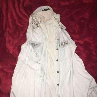 Dotti Faux Denim Shirt