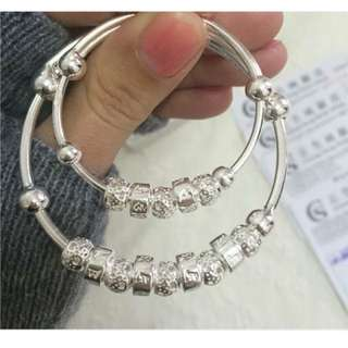 🚚 香港正生銀梵文親子手環