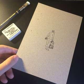 日本印刷精細的明信片