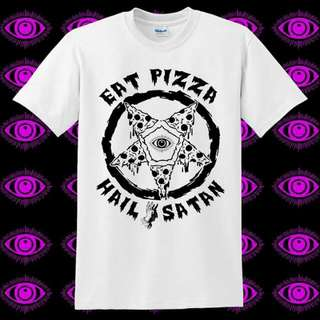 🚚 五芒星撒旦披薩 短袖T恤 龐克 Metal Punk
