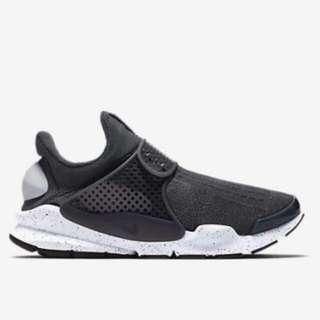 全新 Nike Sock Dart 狼灰色