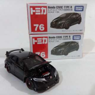 Tomica #76 Honda Civic Type R Die-cast
