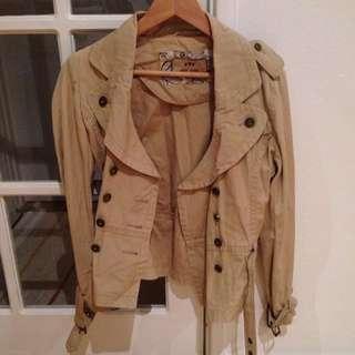 Short Trench Style Jacket