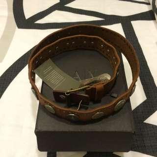 BNWT AUTH ARMANI EXCHANGE Leather Belt