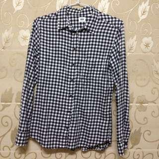 Uniqlo格子襯衫(s號)