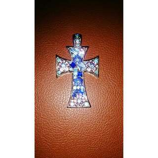 Cross Blue Stone Pendant