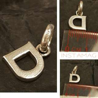 ※sale $180>> $120 Brand Name: LL 925 Silver, Alphabet Charm Letter D, (Not Links Of London Charm)