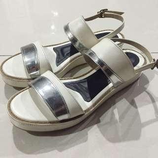 White & Silver Flatforms