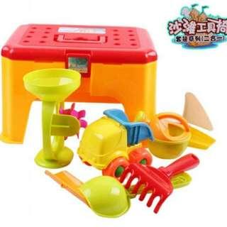 大號388沙灘玩具車套裝 鏟子沙漏寶寶玩沙溪水沙灘椅工具