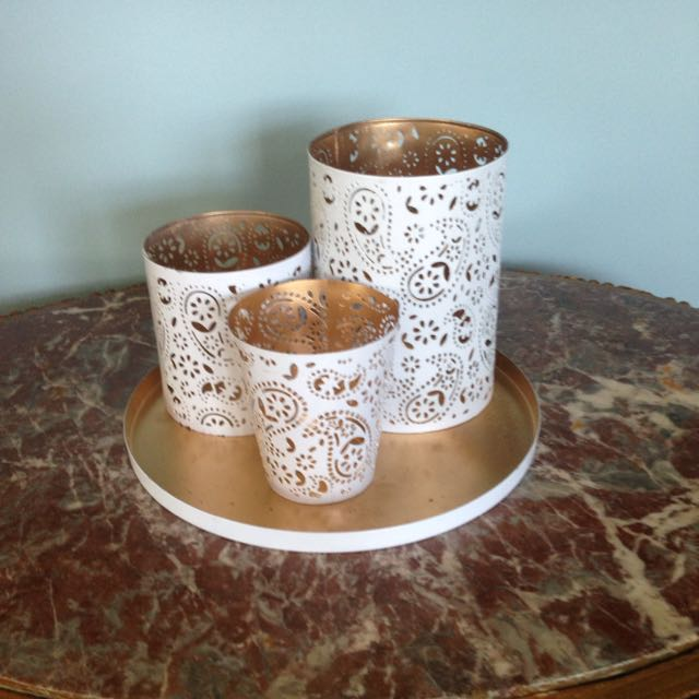 4 Piece Decorative Candle Holders