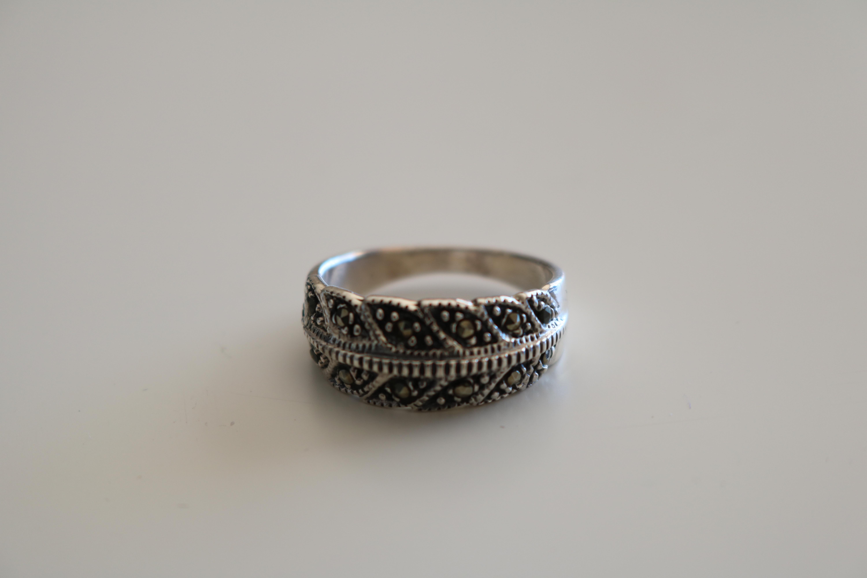 Genuine 925 Silver Ring & Stones - 2003