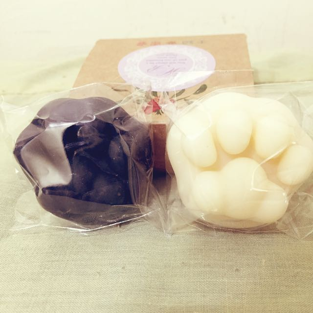 黑白貓掌香皂