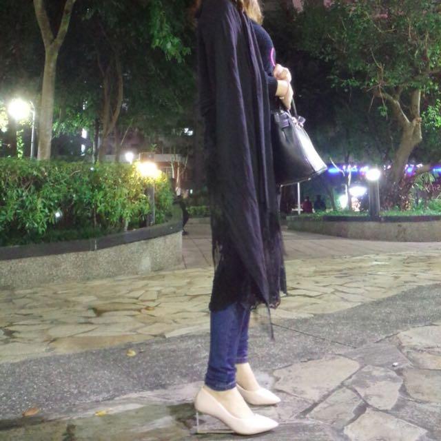 歐美水晶尖頭高跟鞋