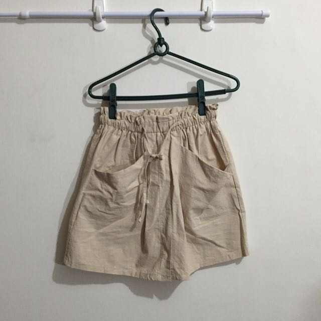 米白色褲裙