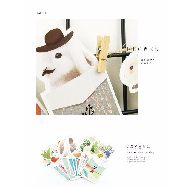 【兔叽の祈愿】 30张盒装 Cute Rabbit Postcards 30's/ box [PO]