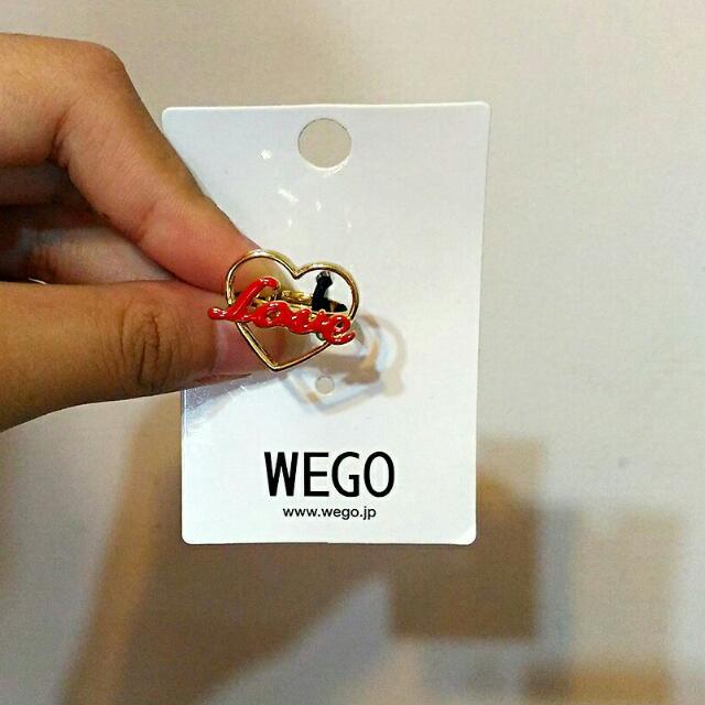 日本🇯🇵 WEGO 愛心💛Love戒指💍