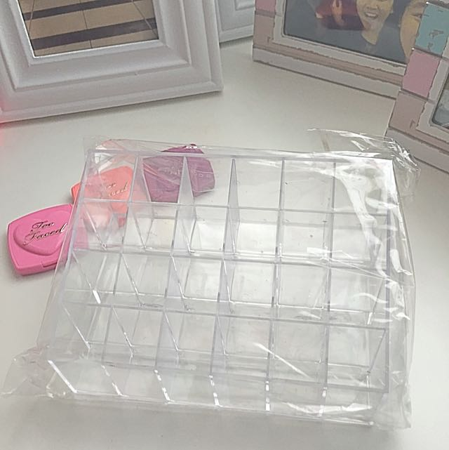 Arcrylic 24 Slots Lipstick Holder