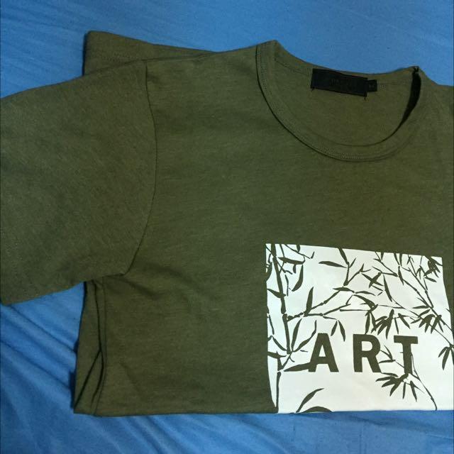 ART藝術感方形印花圓領棉質短T